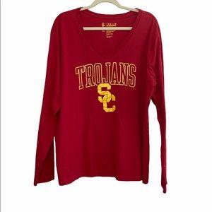 SC Trojans Apparel V Neck Top Red Size 3XL